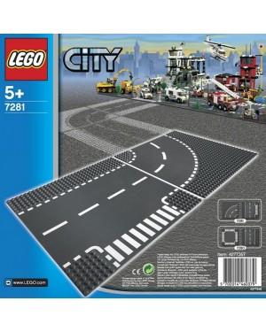 INCROCIO A T E CURVA - LEGO CITY ARTICOLI SUPPLEMENTARI 7281