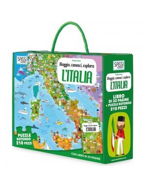 VIAGGIA CONOSCI ESPLORA L'ITALIA LIBRO PUZZLE - SASSI 603434