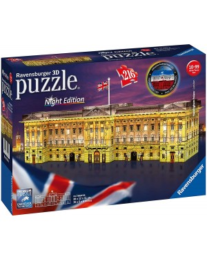 BUCKINGHAM PALACE NIGHT EDITION 3D PUZZLE 216 PEZZI - RAVENSBURGER 12529