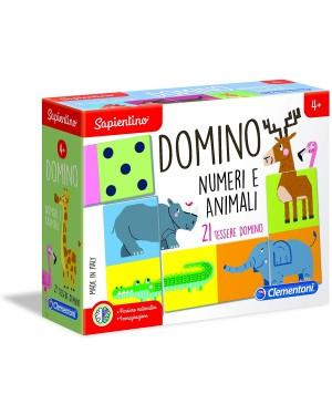 DOMINO ANIMALI E NUMERI MONTESSORI EDUCATIVO - CLEMENTONI 16121