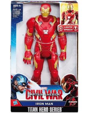 IRON MAN ELETTRONICO  TITAN HERO - HASBRO B61771030