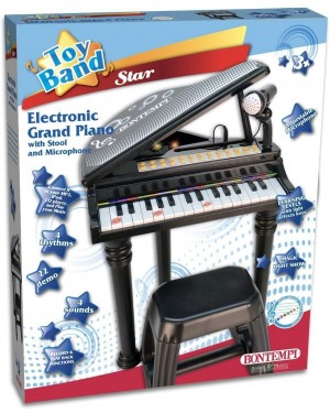 PIANO ELETTRONICO CON MICROFONO E SGABELLO - BONTEMPI 103000