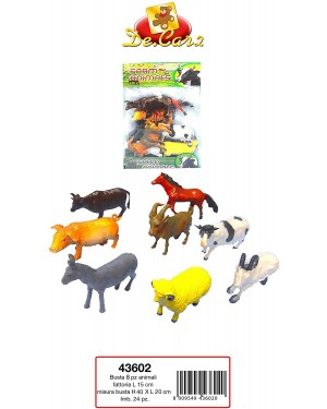 BUSTA 8 PZ. ANIMALI FATTORIA - 43602