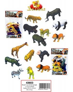 BUSTE 7 ANIMALI GIUNGLA - 43603