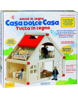 CASETTA LEGNO PER BAMBOLE - 8189