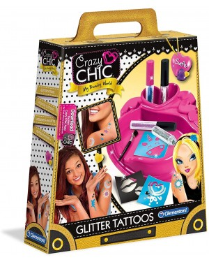 CRAZY CHIC GLITTER TATOO -CLEMENTONI 18513