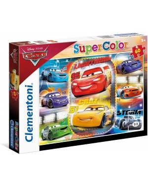 PUZZLE SUPERCOLOR DISNEY CARS 60 PZ - CLEMENTONI 26973
