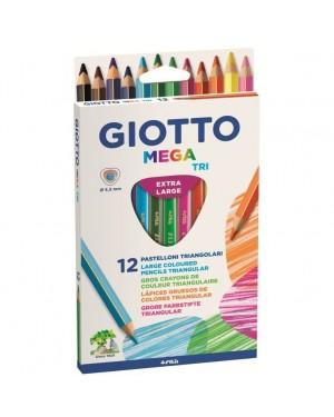 GIOTTO MEGA-TRI 12 PASTELLI - FILA 220600