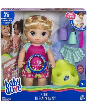 BABY ALIVE SOPHIE MI SCAPPA LA PIPI' - HASBRO E0609