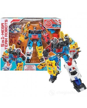 MEGA ROBOT TRANSFORMER 5 IN 1 - 10180